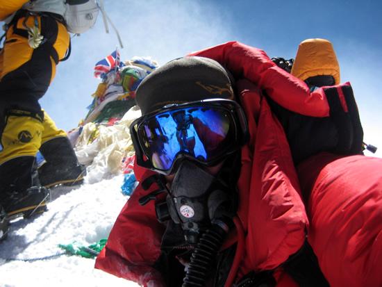 John Furneaux on the summit of Mount Everest