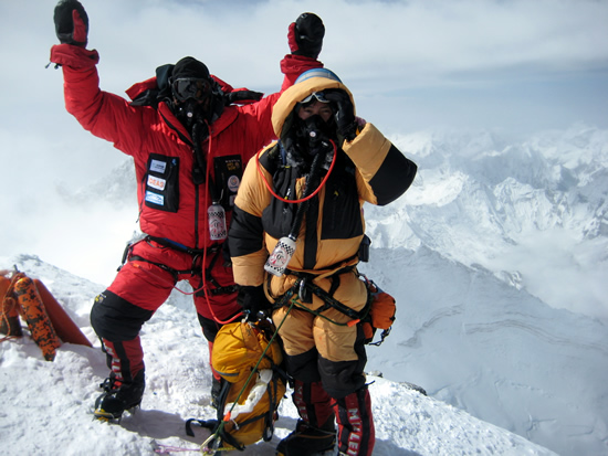 Rob Hill and Mingma Sherpa Mount Everest South Summit
